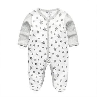 طفل حديث الولادة النائمين بيجامة الرضع ملابس طويلة الأكمام
