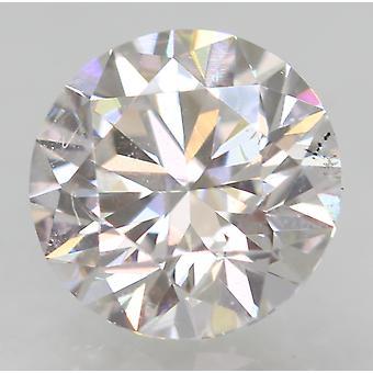 Certified 0.61 Carat D VVS2 Round Brilliant Enhanced Natural Diamond 5.39mm 3EX