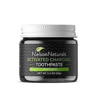 Nelson Naturals Activated Charcoal Toothpaste, Peppermint 3.3 Oz