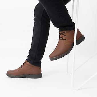 Hush Chiots Reggie Mens Bottes en cuir Brown