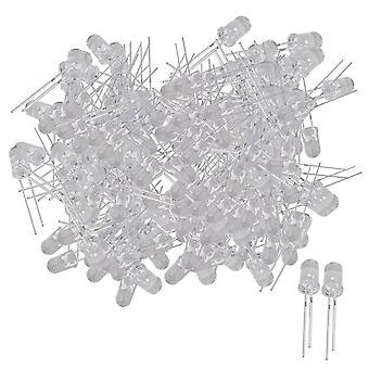 200Pcs White 5mm Round Emitting Diode LED Light Lamp 3.0-3.2V