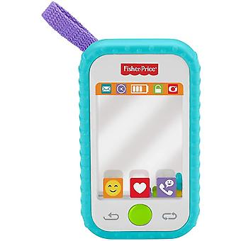 Fisher price selfie phone teether smart phone a baby rattle, mirror, and