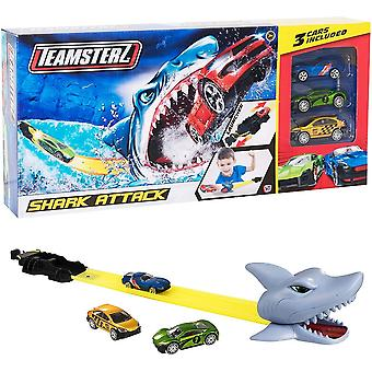 "Teamsterz Shark Attack Track Set  Inc 3 X 3"" Cars"