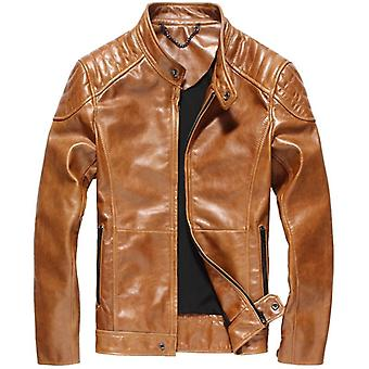 Hodor tan men's leather jacket streetwear