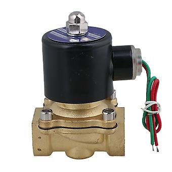 AC 220V 3/4Inch Electric Solenoid Valve Gas Water Air Black