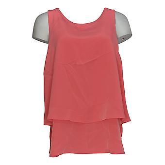 DG2 di Diane Gilman Top Pink Tank Polyester Round Neck 721-917