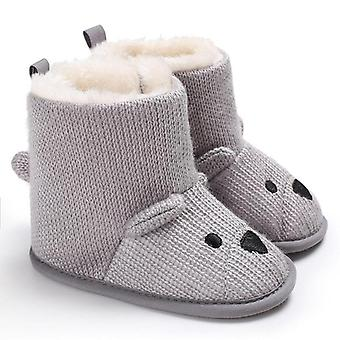 Söpö sarjakuvakarhu design snowfield talvi boot vastasyntyneelle vauvalle