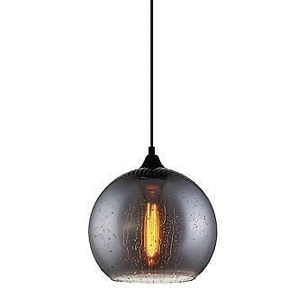 Italux Tabby - moderne hängende Anhänger schwarz 1 Licht mit rauchigen Schatten, E27
