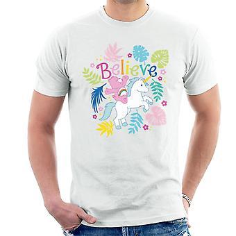 Care Bears Cheer Bear Unicorn Believe Men's T-Shirt