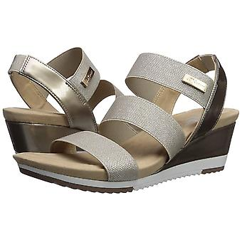 Anne Klein Women's Shoes Summertime Fabric Open Toe Casual Platform Sandals
