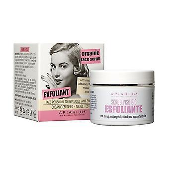 Organic Exfoliating Face Scrub 50 ml of cream
