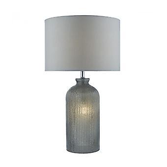 Pamplona Tischleuchte grau und 1 Glühbirne