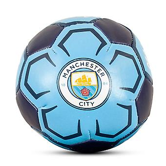 "Manchester City FC Official Supporter 4"" Mini Soft Football Soccer Ball Blue"