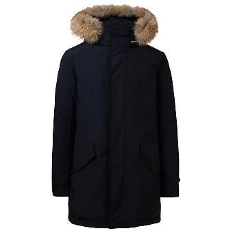 Woolrich Woou0278mrut0001mlb Men's Blue Cotton Outerwear Jacket