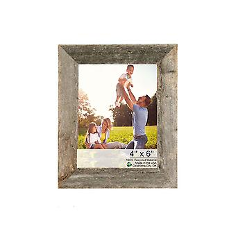 """7""""x8"""" Natural Weathered Grey Picture Frame with Easel Backs"""
