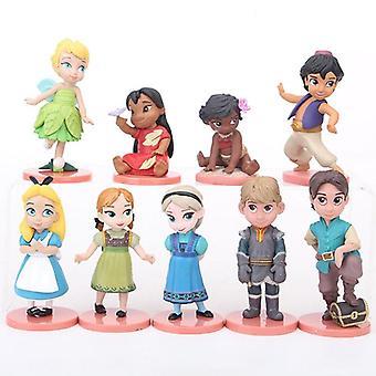 Disney Princess Figurines, Frozen Elsa Anna Action Figure Decoration Dolls