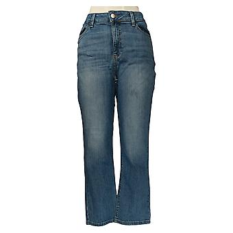 Lee Women's Jeans Formas Secretamente Azul âncora de perna reta