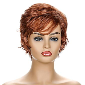 Women's Wig Realistic Side Bangs Fluffy Curly Wig