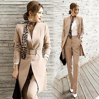 Autunno-inverno, due pezzi, giacca slim long suit + pantaloni slim