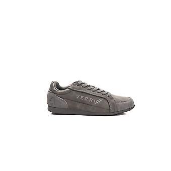Verri Grey Low Top Laced Sneakers