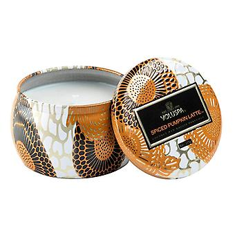Voluspa Mini Decorative Tin Candle Spiced Pumpkin Latte 113g