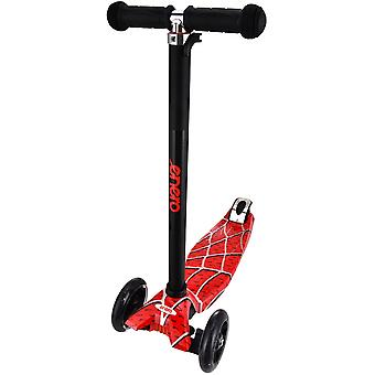 Driewieler step  Spider rood - ABEC7 lagers - 47x23x78-90 cm