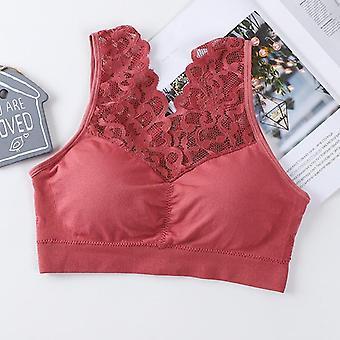 Sexy V Neck Lace Bras Brassiere, Push Up Padded Bra