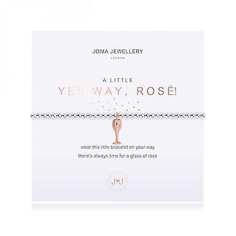 Joma Jewellery A Little Yes Way Rose! Pulseira de estiramento de 17,5cm de prata 3793