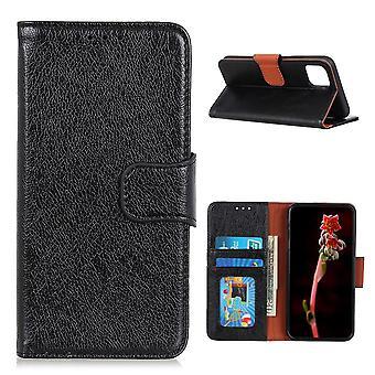 Xiaomi Mi 11 Brieftasche Fall strukturiertsplit - Schwarz