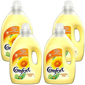4xof3L Comfort Sunshiny Day All Day Odour Defence Liquid Fabric Conditioner 85W