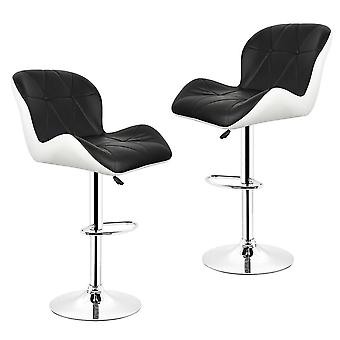 Leisure Synthetic Leather Swivel Bar Stools/chairs Height Adjustable Pneumatic