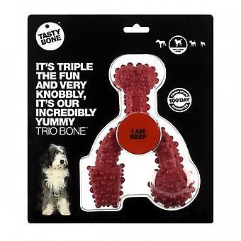 TastyBone Beef Flavoured Trio Bone Dog Chew Toy