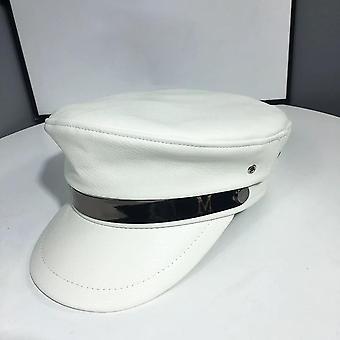 أزياء الجلود العسكرية قبعة بحار قبعة / الرجال حزام الكابتن كاب