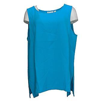 Linea por Louis Dell'Olio Women's Top Gauze Crepe Tank Azul A293753