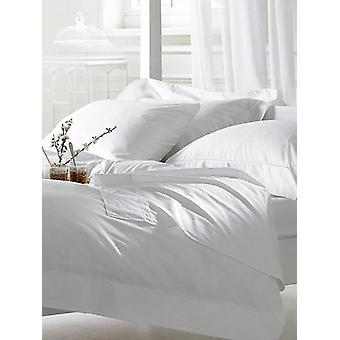 Bellissimo 400TC 100% algodón Oxford pillowcase par - blanco