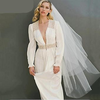 enkel hvit brude slør