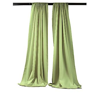 La Linen Pack-2 Polyester Poplin Backdrop Drape 96-Inch Wide By 58-Inch High, Sage