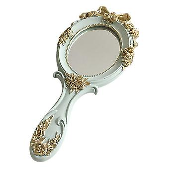 1Pc creative makeup mirror with handle retro style portable mirror for