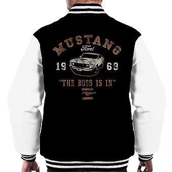 Ford Mustang The Boss Is In Men's Varsity Jacket