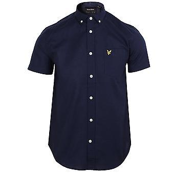 Lyle & scott men's oxford navy shirt