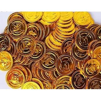 Muovinen Bitcoin Gold Treasure Coins Lelu
