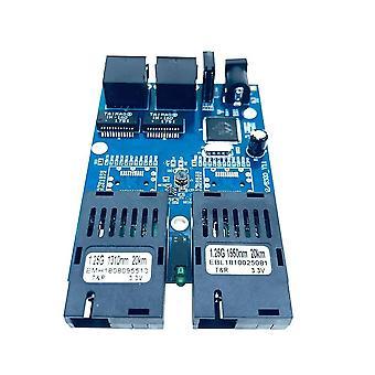 10/100/1000m Gigabit Ethernet Kytkin Optinen Media Muunnin Yksi tila 2 Rj45