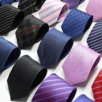 Miesten solmiot kiinteä väri solmio tarvikkeet päivittäin kuluminen