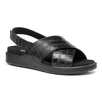 Hotter Mujeres's Pace Wide Fit Touch Fastening Sandalias de punta abierta