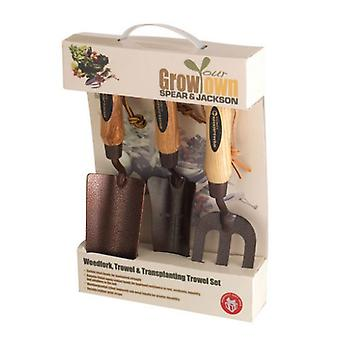 Spear and Jackson ELEMENTS3PS Elements Grow Your Own 3 Piece Gift Set