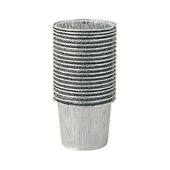 DEO Mini Tazze in fogli di alluminio per riscaldatori per ceretta in cera - Confezione da 20