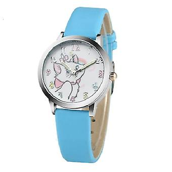 Cat Pattern, Cartoon Quartz, Leather Watches For Child,
