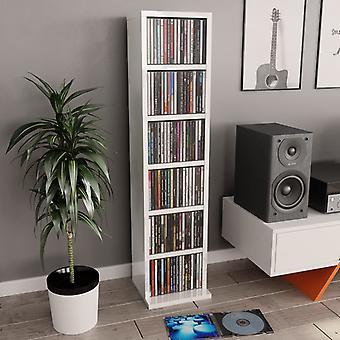 vidaXL CD kabinet højglans hvid 21x20x88 cm spånplader