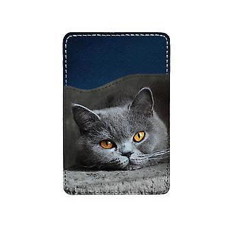 Katt Brittiskt Korthår Självhäftande Korthållare För Mobiltelefon