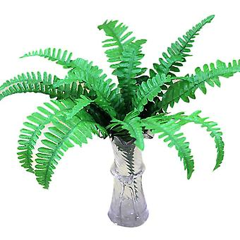 Artificial plant persian leaf plastic fake green plants 3pcs